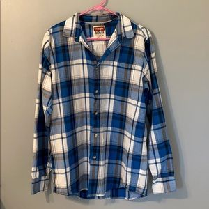 Men's Wrangler Cotton Button-down flannel